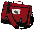 California Flag Messenger Bag Red