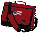 American Flag Messenger Bag Red