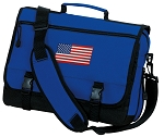 American Flag Messenger Bag Royal
