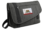 California Flag Messenger Laptop Bag Stylish Charcoal