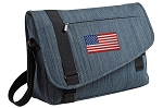 American Flag Messenger Laptop Bag Stylish Navy