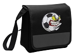 Soccer Fan Lunch Bag Cooler Black