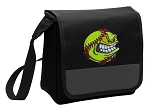 Softball Lunch Bag Cooler Black