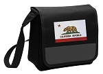 California Flag Lunch Bag Cooler Black