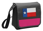Texas Flag Lunch Bag Cooler Pink
