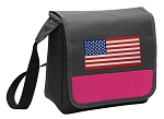 American Flag Lunch Bag Cooler Pink