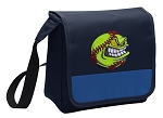 Softball Lunch Bag Cooler Blue
