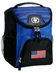 American Flag Best Lunch Bag Cooler Blue