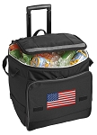 American Flag Rolling Cooler Bag