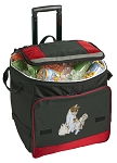 Cute Cats Rolling Cooler Bag Red