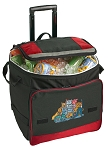 Crazy Cat Rolling Cooler Bag Red
