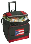 Puerto Rico Rolling Cooler Bag Red