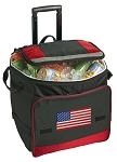American Flag Rolling Cooler Bag Red