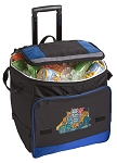 Crazy Cat Rolling Cooler Bag Blue