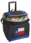 Texas Flag Rolling Cooler Bag Blue
