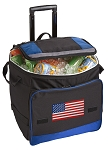 American Flag Rolling Cooler Bag Blue