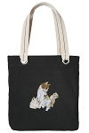 Cute Cats Tote Bag RICH COTTON CANVAS Black