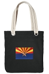 Arizona Tote Bag RICH COTTON CANVAS Black