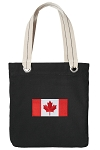 Canada Tote Bag RICH COTTON CANVAS Black