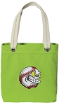 Baseball Tote Bag RICH COTTON CANVAS Green