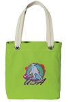Field Hockey Tote Bag RICH COTTON CANVAS Green