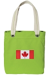 Canada Tote Bag RICH COTTON CANVAS Green