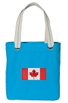 Canada Tote Bag RICH COTTON CANVAS Turquoise