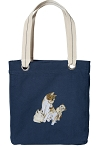 Cute Cats Tote Bag RICH COTTON CANVAS Navy