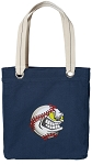 Baseball Tote Bag RICH COTTON CANVAS Navy