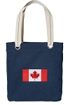 Canada Tote Bag RICH COTTON CANVAS Navy
