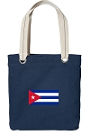 Cuban Flag Tote Bag RICH COTTON CANVAS Navy