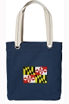 Maryland Tote Bag RICH COTTON CANVAS Navy
