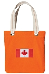 Canada Tote Bag RICH COTTON CANVAS Orange