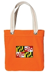 Maryland Tote Bag RICH COTTON CANVAS Orange