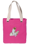 Cute Cats Tote Bag RICH COTTON CANVAS Pink