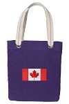 Canada Tote Bag RICH COTTON CANVAS Purple