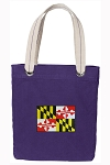 Maryland Tote Bag RICH COTTON CANVAS Purple