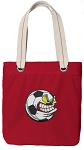 Soccer Fan Tote Bag RICH COTTON CANVAS Red