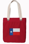 Texas Flag Tote Bag RICH COTTON CANVAS Red