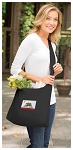 California Flag Tote Bag Sling Style Black