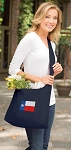 Texas Flag Tote Bag Sling Style Navy