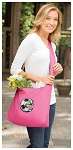 Soccer Fan Tote Bag Sling Style Pink