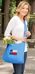 Texas Flag Tote Bag Sling Style Turquoise