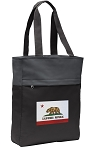 California Flag Tote Bag Everyday Carryall Black