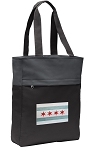 Chicago Flag Tote Bag Everyday Carryall Black