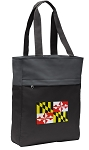 Maryland Tote Bag Everyday Carryall Black