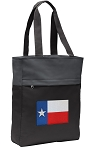 Texas Flag Tote Bag Everyday Carryall Black