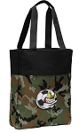 Soccer Fan Tote Bag Everyday Carryall Camo