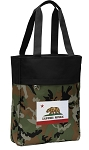 California Flag Tote Bag Everyday Carryall Camo