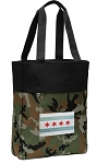 Chicago Flag Tote Bag Everyday Carryall Camo